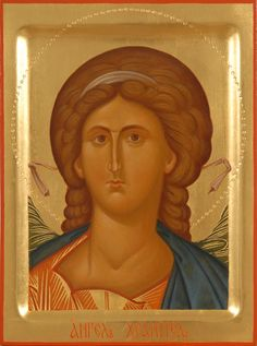 Guardian Angel, TO ORDER, A handpainted icon of the Guardian Angel. Commemorated…