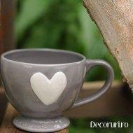 Cana pentru ceai cu inimioara. Trademan Suedia Mugs, Tableware, Dinnerware, Tumblers, Tablewares, Mug, Dishes, Place Settings, Cups