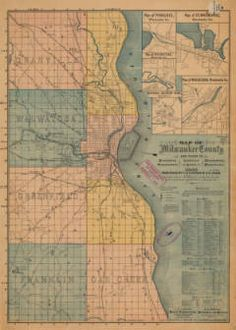Map of Milwaukee County and plans of Pewaukee, Oconomowoc, Soldiers' Home, Wauwatosa, Waukesha, 1886 :: Maps and Atlases in Our Collections