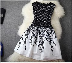 Wholesale 2014 New Fashion Embroidery Lace Sleeveless Cheap Plus Size For Women Black White Dress Celebrity Dresses Summer Runway Dress from China :$19.9 | DHgate.com