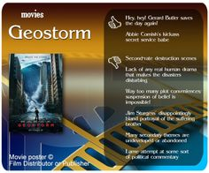 Movie review of Geostorm.