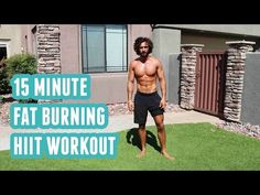 15 Minute Fat Burning HIIT Workout | No Equipment | The Body Coach - YouTube