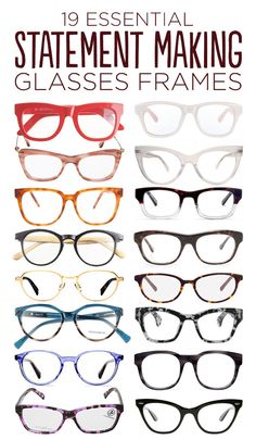 Love the two tone ones 19 Essential Statement-Making Glasses Frames. Totally thinking about getting two pairs of new glasses. Cool Glasses, New Glasses, Glasses Online, Glasses Frames, Fake Glasses, Ray Ban Sunglasses, Sunglasses Women, Sports Sunglasses, Sunglasses Outlet