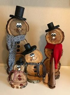70 Ideas For Holiday Wood Crafts Diy Christmas Gifts Wooden Christmas Decorations, Christmas Wood Crafts, Snowman Crafts, Diy Christmas Gifts, Rustic Christmas, Christmas Projects, Christmas Fun, Holiday Crafts, Christmas Ornaments