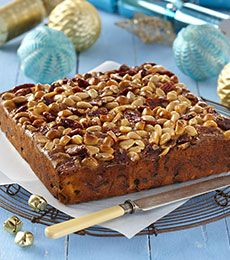 Blonde Chocolate Chip Fruit Cake - What a fruity moist cake this is, perfect for Christmas… in fact all year round. Make it and enjoy it with a cup of tea!