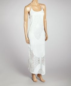 Another great find on #zulily! White Carmen Halter Dress by Meghan Los Angeles #zulilyfinds