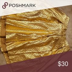 Lularoe Madison Skirt Size Medium Worn 1x gold Madison skirt holiday collection Size Medium LuLaRoe Dresses Midi