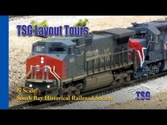 N Scale DCC Train Layout Tour South Bay Historical Railroad Society SBHRS - YouTube