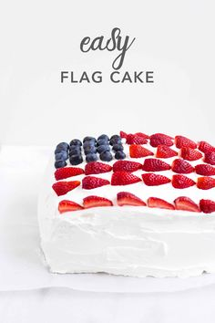 Easy Flag Cake | Deliciously Declassified Flag Cake, Enjoy Summer, Fourth Of July, Holiday Recipes, Raspberry, Fruit, Easy, Desserts, Food