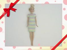 Knitted - Barbie Striped Dress - YouTube