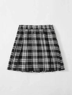 Girls Zipper Side Tartan Pleated Skirt – Kidenhouse Leopard Print Skirt, Floral Print Skirt, Tartan Pleated Skirt, Fashion News, Fashion Outfits, White Patterns, Printed Skirts, Baby Blue, Cheer Skirts