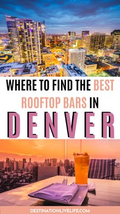 Looking for information on the best rooftop bars in Denver, CO? This listing has you covered with only the BEST options around the city. Many open YEAR ROUND! Click here to read more. Best Rooftop Bars in Denver l Denver Rooftop Bars l Denver Rooftop l Rooftop Bar Denver l Rooftop Bars in Denver l Denver Colorado Rooftop Bars l Best Bars in Denver l Best Bars Denver l Best Bars Denver Colorado l Best Bars in Downtown Denver l Best Bars in LoDo Denver #Denver #Colorado #DestinationLiveLife Road Trip To Colorado, Colorado Hiking, Denver Colorado, Denver Travel, Travel Usa, Colorado Tourism, Denver City, Best Rooftop Bars, Ultimate Travel