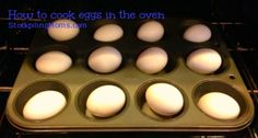 How to cook hardboiled eggs in the oven