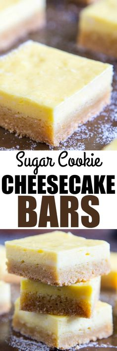 These Sugar Cookie Cheesecake Bars are decadent without being overly sweet. Start with a package of sugar cookie mix and add a creamy cheesecake filling!