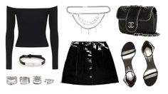 """""""Untitled #21342"""" by florencia95 ❤ liked on Polyvore featuring Veil London, Topshop, Moschino, Stuart Weitzman, Chanel, Forever 21 and Cartier"""