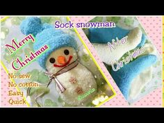 (6) DIY Christmas idea : Sock snowman襪子雪人 - YouTube
