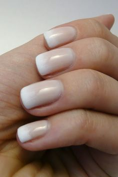 I adore this subtle french manicure gradient! Manicure French, French Nail Art, Nail Manicure, French Polish, Pedicure, Gradient Nails, Pink Acrylic Nails, Love Nails, How To Do Nails