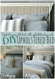 DIY Upholstered Bed - The Lilypad Cottage