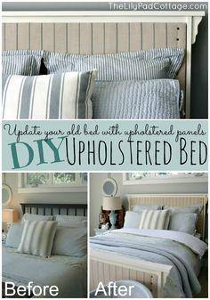 DIY Upholstered Bed - The Lilypad Cottage