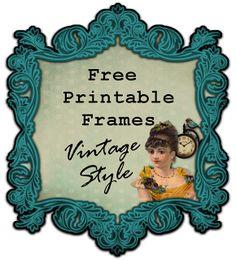 Boulevard de L'antique - Retro Scraps: Free Printable Frames - Vintage Style