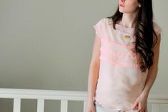 DIY Clothes Maternity Refashion : DIY The square pintuck top
