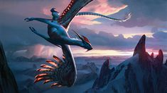 Ojutai, Soul of Winter MtG Art from Fate Reforged Set by Chase Stone Fantasy Wesen, Fantasy Beasts, Fantasy Landscape, Fantasy Art, Chase Stone, Legendary Dragons, Mtg Art, Dragon Pictures, Mythological Creatures