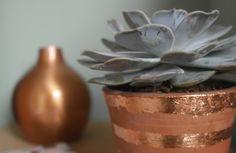 Me and my shadow: DIY Copper Leaf Plant Pots Plant Pots, Potted Plants, Copper, Leaves, Diy Crafts, Vintage, Inspiration, Decoration, Ideas