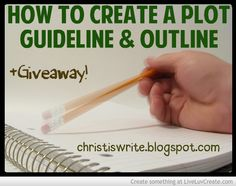 Preparing to Write Part 3: How to Create a Plot Guideline & Outline + Giveaway! http://christiswrite.blogspot.com/2014/03/preparing-to-write-part-3-how-to-create.html