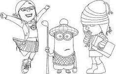despicable me coloring pages - Google Search