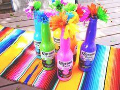 DIY Painted Corona Bottles