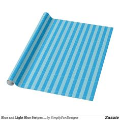 Blue and Light Blue Stripes Wrapping Paper