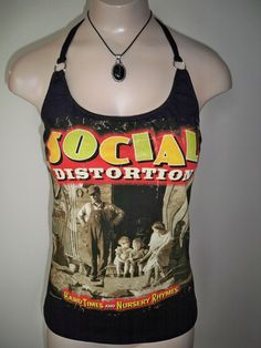 Social Distortion halter top Diy Punk Rock by harleyone on Etsy, $23.00
