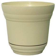 Rush Creek Designs PIM0975010722 Denali Planter with Built in Tray, Creme by Rush Creek Designs. $6.49. Built in matching tray and injection molded planters. Available in cream color. Used for plants and flowers in indoor or outdoor. Denali planter. Measures 10-inch diameter. The denali planter comes complete with built in matching tray and injection molded planters. Available in cream color. Used for plants and flowers in an indoor or outdoors. It measures 10-inch diameter.