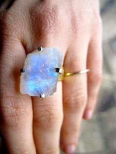 Raw Earth Moonstone Ring
