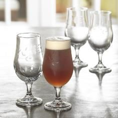 #559 ::: ELEGANCE BEER GLASSES ::: Tulip-shaped glass is a more elegant way to serve beer.  Glass features a pretty pedestal and is cut with our signature Princess Heritage design.  Not just for beer — use to serve a variety of beverages. Set of 4  -  13 oz ea.  -  $49.95   :: Contact Me With Your Order ::    lynnebeveridge@myprincesshouse.com