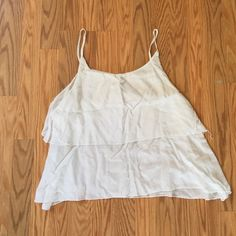 Tank top White layered tank top Brandy Melville Tops Tank Tops