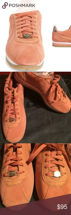 Limited Edition Nike x A.L.C  Cortez Sneakers! Brand new. Blush. No box but does come with suede Nike bag.  Also come with extra pair of gold tipped laces!  Nike teams up with celebrity stylist-turned-designer and founder of A.L.C., Andrea Lieberman, on this limited-edition version of the iconic Cortez sneaker. These retro kicks feature high-fashion updates such as snake-print heel tabs, inspirational quotes on the footbeds and longer laces that can be tied around the wearer's ankles…