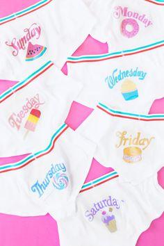 DIY Day of the Week Underwear | studiodiy.com