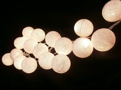 set cotton balls string light with 3 m. wire and adapter (20 Balls ...