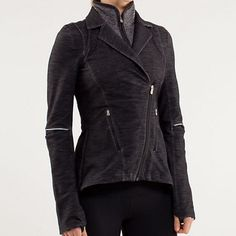 ULTRA RARE Lululemon ride on blazer Stunning Lululemon reflective denim jacket. Ride on blazer, like new. No flaws size 4. Lots of stretch, side zipper and zipper that reaches neck for late night bike rides. Price is raised due to rarity. No trades no lowballs lululemon athletica Jackets & Coats Blazers