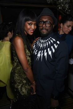 #MetGala, #NaomiCampbell and #WilliAm at #MichaelKors #afterparty #MetBall