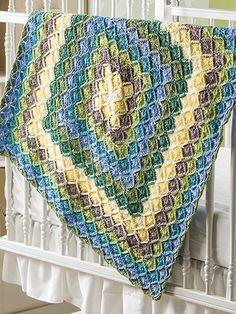 Entrelac Crochet – free patterns – Grandmother's Pattern Book