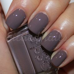 Essie Merino Cool - my all time FAV winter nail color! Love Nails, How To Do Nails, Fun Nails, Pretty Nails, Gray Nails, Purple Shellac Nails, Light Purple Nails, Nail Pink, Neutral Nails