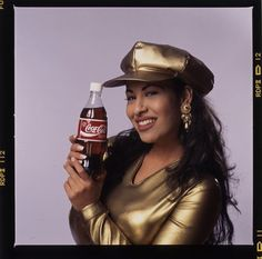 RARE never-before-seen out takes from Selena's 1994 Coca-Cola photo shoot!  Photographed by Al Rendon  via americanhistory.si.edu