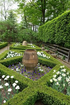 This garden was patterned after a design by legendary English gardener, Rosemary Varey.