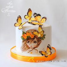 Happy Birthday Cake Images, Beautiful Birthday Cakes, Birthday Cake Girls, Beautiful Cakes, Cake Decorating Frosting, Birthday Cake Decorating, Pretty Cakes, Cute Cakes, Cake Painting Tutorial
