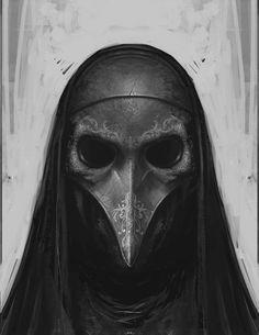 Artwork // By (DeviantArt) Death Eater Mask, Renaissance, Character Art, Character Design, Gothic Fantasy Art, Plague Doctor, Cool Masks, Arte Horror, Masks Art