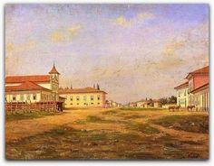 Benedito Calixto  Largo e Matriz do Brás, em 1862, é o nome deste quadro que mostra a igreja de Bom Jesus do Brás e o largo do mesmo nome, situado defronte do templo, então localizado no Caminho da Penha, atual Avenida Rangel Pestana.