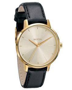 Nixon Kensington Leather Watch - Gold Brille 45c5905fe493c
