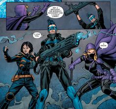 Batman and Robin Eternal... don't know the story line but I love that feeling they captured